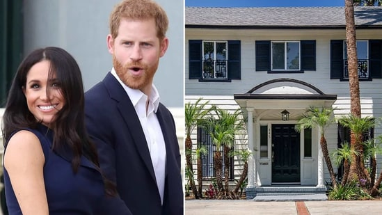 Meghan Markle and Prince Harry, (R) her Los Angeles home she shared with her ex-husband.(Instagram)