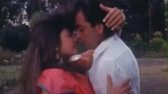 Pooja Bhatt and Sanjay Dutt in a Sadak.