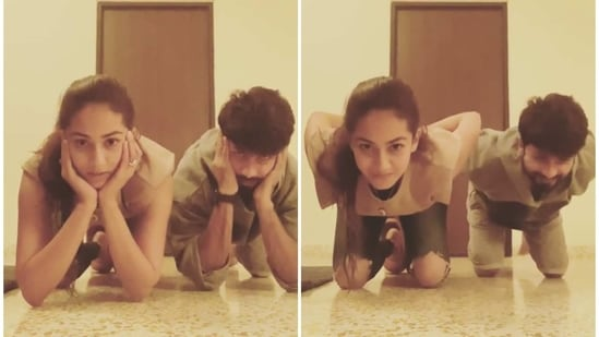 Shahid Kapoor and Mira Rajput took the Centre of Gravity challenge.