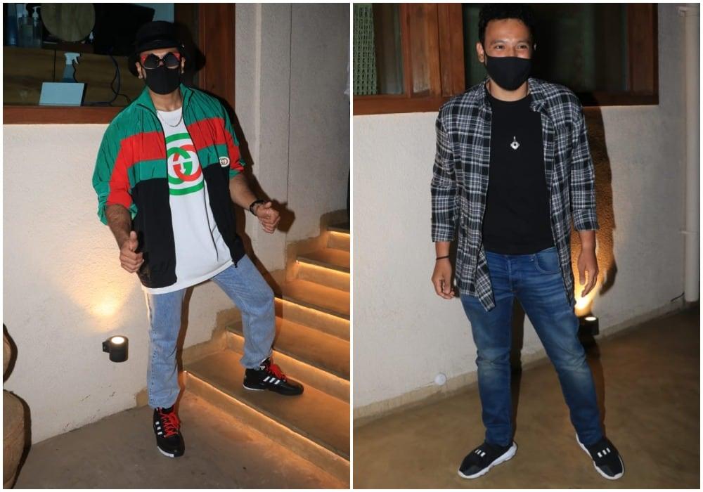 Ranveer Singh and birthday boy Rohan Shrestha at the venue.