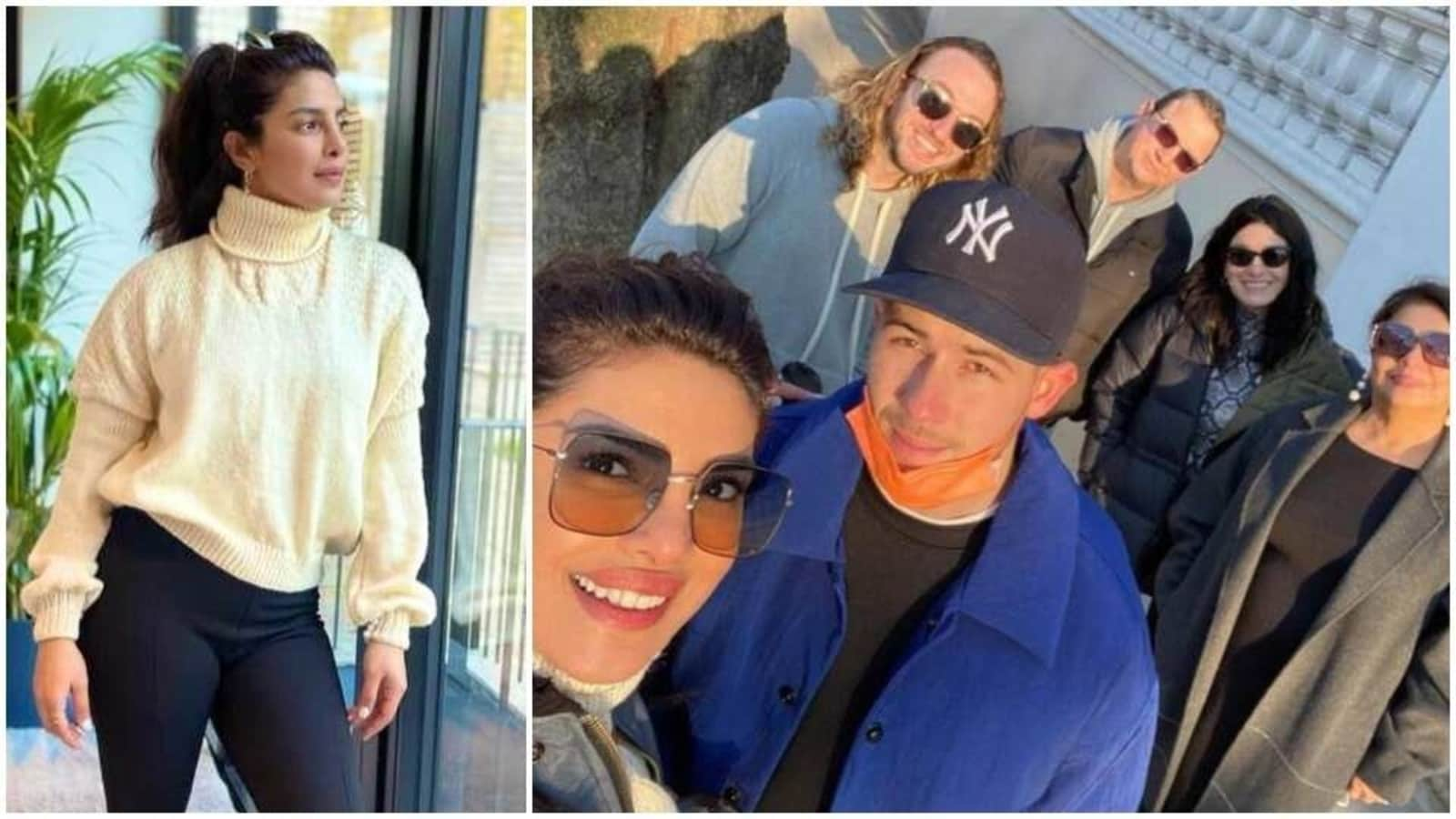 Priyanka Chopra is reunited with Nick Jonas, her in-laws in London; wears sweater knitted by her mom - Hindustan Times