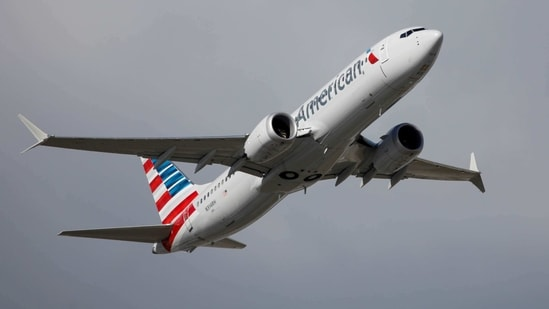 American Airlines flight 718, the first US Boeing 737 MAX commercial flight since regulators lifted a 20-month grounding in November, takes off from Miami, Florida, US. (Reuters)