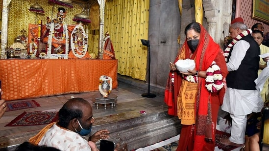Former Chief Minister of Rajasthan, Vasundhara Raje is on a temple run. (Agency)