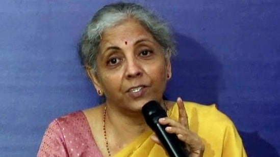 """""""Each one of us has to say that we don't accept such language and expressions,"""" Sitharaman added.(ANI Photo)"""
