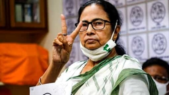 Chief Minister of West Bengal state and Trinamool Congress party leader Mamata Banerjee.(AP)