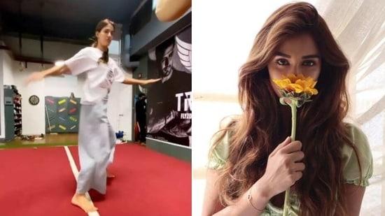Disha Patani shares fitness video on International Women's Day(Instagram/dishapatani)