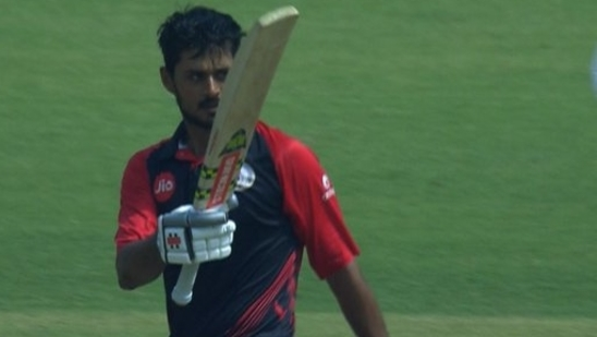 Priyank Panchal played a knock of 134 runs to guide Gujrat to Vijay Hazare Trophy semi-finals(BCCI Domestic / Twitter)