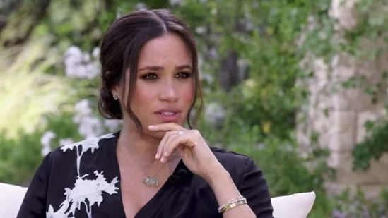 Meghan Markle during her interview with Oprah,
