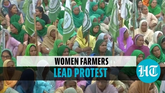 Women farmers lead protest