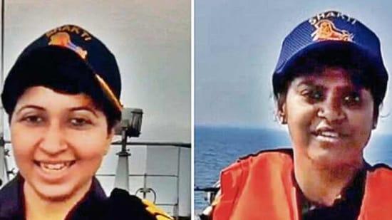 Lt Cdr Tanisha Chakraborty, Surg Lt Hannah Jane Thavapandian.