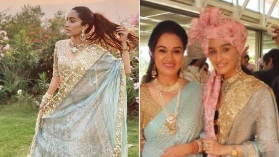 Shraddha Kapoor at cousin's wedding(Instagra/ namdeepak and tejukolhapure )