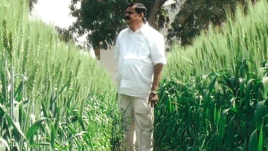 Telangana farmer Chintala Venkat Reddy. (HT Photo)