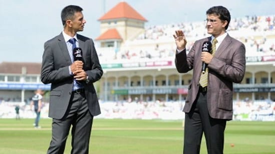 Rahul Dravid (L) and Sourav Ganguly. (Getty Images)