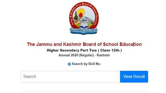 JKBOSE class 12 results for Kashmir division.(Screengrab )