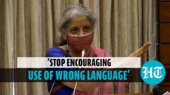 Finance Minister on use of wrong language