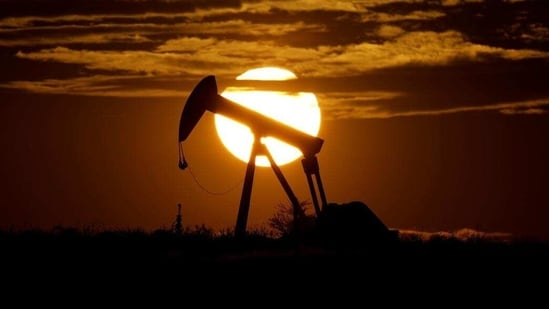 Brent crude rose as much as 2.9% to $71.37 a barrel on Monday, before paring gains.(AP)