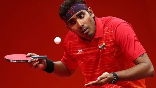 Sharath Kamal in action. (Getty Images)