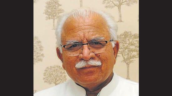 Haryana CM Manohar Lal Khattar. (HT PHOTO)