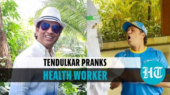 Sachin pranks a health worker