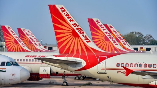 The government aims to complete the privatisation of the national carrier in the next fiscal.(PTI Photo/Ravi Choudhary)(PTI)
