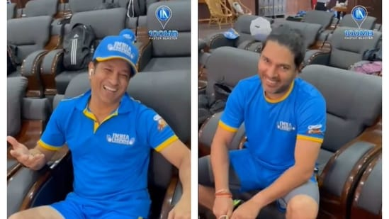 Sachin Tendulkar and Yuvraj Singh.(100MB Youtube/Screengrab)