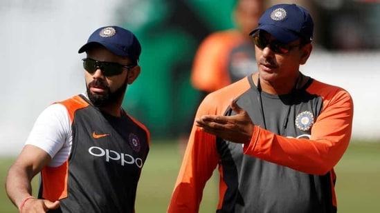 File photo of Virat Kohli and Ravi Shastri.(Reuters)