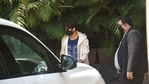 Shahid Kapoor checking out the new vehicle. (Varinder Chawla)