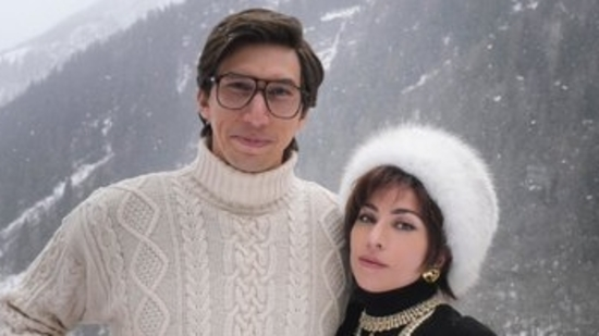 Adam Driver and Lady Gaga as Maurizio Gucci and Patrizia Reggiani for House of Gucci.(Twitter)