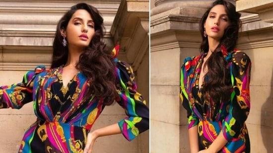 Nora Fatehi looks stunning in Versace dress(Instagram/norafatehi)