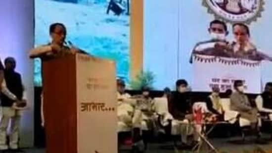 MP chief minister Shivraj Singh Chouhan. (Videograb)