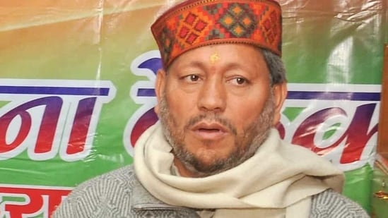 Tirath Singh Rawat, was chosen as the chief minister of Uttarakhand after a meeting of the BJP's legislative party meeting in Dehradun.(HT File Photo)