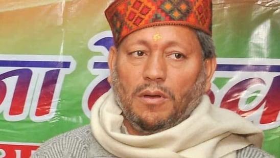 Tirath Singh Rawat (HT Photo)