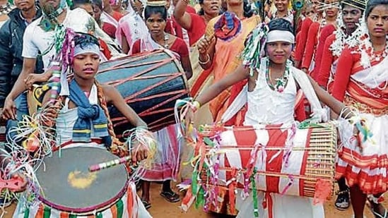 The 'adivasis' or tribals of states such as Jharkhand, Chhattisgarh and Odisha are demanding a separate religious code for them.(Diwakar Prasad/ HT)