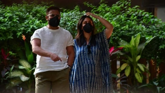 Saif Ali Khan and Kareena Kapoor Khan made their first public appearance together after welcoming their second son on February 21.(Varinder Chawla)