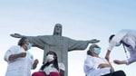 While Covid-19 deaths and infections are falling globally, that is not the case in Brazil (AP Photo/Bruna Prado, File).(AP)
