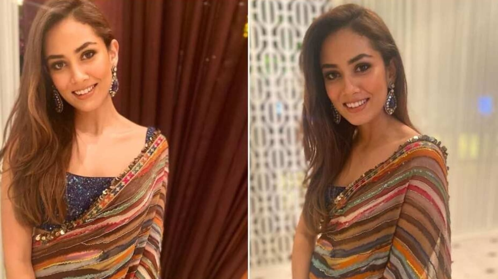 Mira Rajput's striped sequined saree is the modern twist to tradition we needed - Hindustan Times