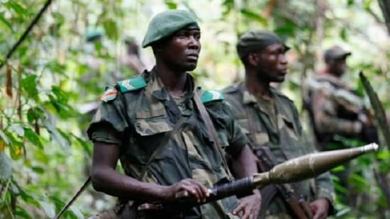 The Allied Democratic Forces (ADF), a Ugandan insurgent faction active in eastern Congo since the 1990s, has committed a spate of brutal reprisal attacks on civilians since the army began operations against it in late 2019.(Image via twitter )