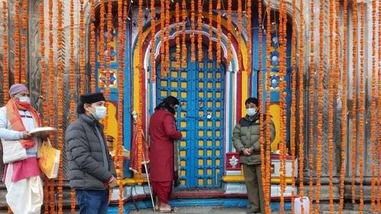 Seen here are the portals of the Kedarnath Shrine. (HT Photo)