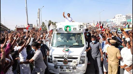 Tamil Nadu chief minister Edappadi Palanichamy announced <span class='webrupee'>₹</span>1,500 monthly for women if the ruling All India Anna Dravida Munnetra Kazhagam (AIADMK) retains power. (PTI)
