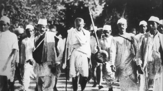 Led by Mahatma Gandhi, 78 people started the Salt Satyagraha on March 12, 1930, from Gandhi's Sabarmati Ashram.(File photo)