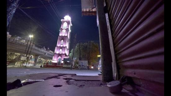 Night curfew was clamped in the district on March 12 in view of the sudden surge in Covid-19 cases. (HT File Photo)