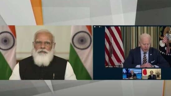 Prime Minister Narendra Modi lauded the partnership of the four countries in their fight against Covid-19.