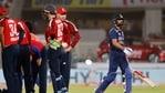 India v England - Narendra Modi Stadium, Ahmedabad, India - March 12, 2021 India's Virat Kohli walks off after losing his wicket(REUTERS)