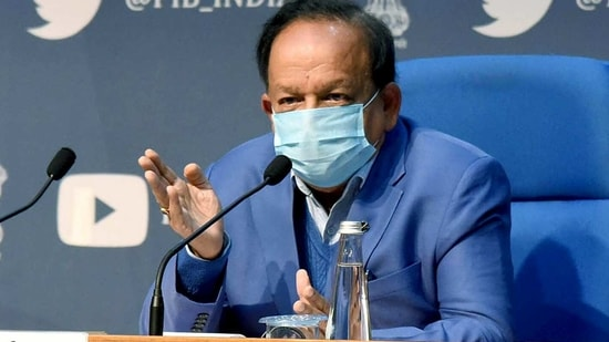 Union minister for health & family welfare, science & technology and earth sciences, Dr. Harsh Vardhan addressing a press conference. (ANI File Photo )