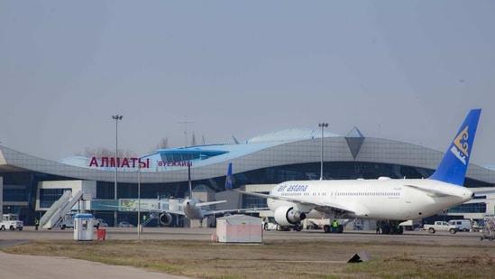 An aircraft is seen at Almaty airport, Kazakhstan. (Representational )