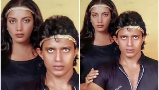 Shabana Azmi with Mithun Chakraborty in a throwback picture.