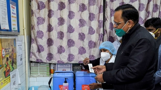 """Satyendar Jain asserted that the ambulance response time was """"reduced and it was ensured that it reached the patients' home within 15 minutes of the call"""".(PTI)"""