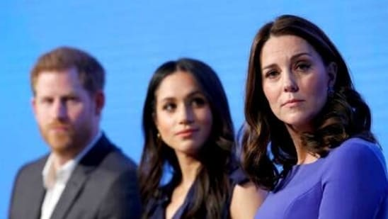 Britain and its royal family are absorbing the tremors from a sensational television interview with Prince Harry and Meghan. (AP)