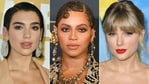 Beyonce is the leading nominee with nine -- despite not releasing an album in the past year -- while Taylor Swift and Dua Lipa both nabbed six nods for their records dropped during quarantine.(AFP)