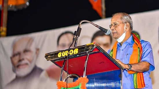 'Metro Man' E Sreedharan will fight the upcoming polls from Palakkad against current MLA Shafi Parambhil (Congress)(PTI File)